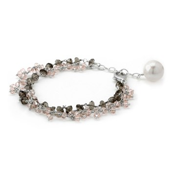 240-3105-Rose & Smokey Quartz Bracelet