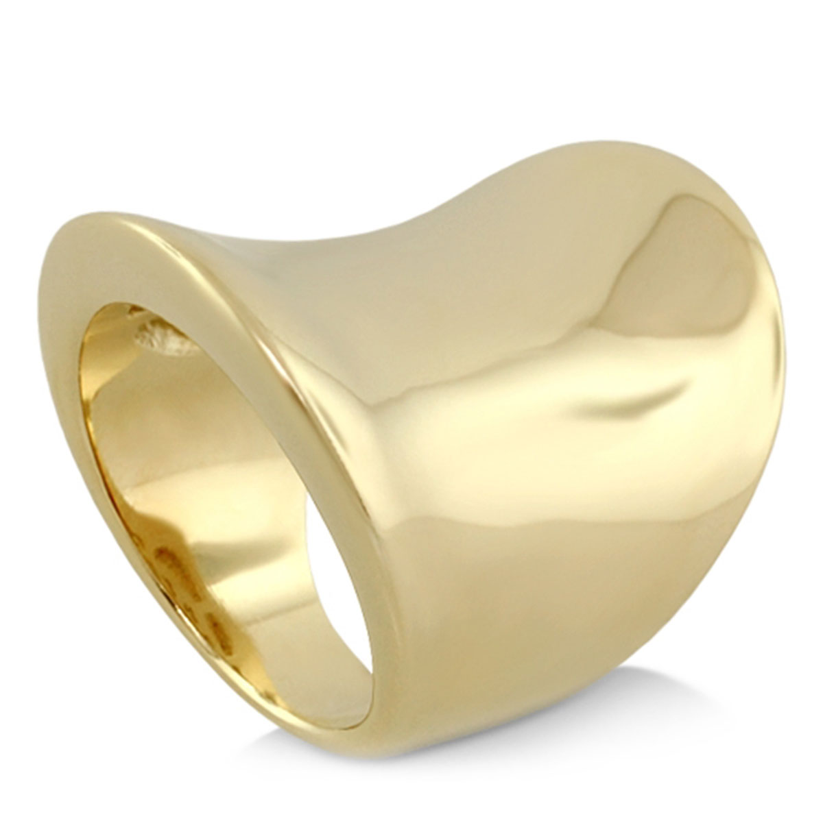 343250-Yellow Gold 'Saddle' Ring