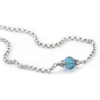 Blue Topaz Petite Necklace