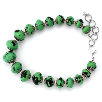 343085-Green Turquoise Necklace