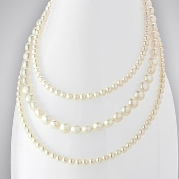 Triple Strand Pearl Necklace 347597