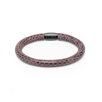 STORY by Kranz & Ziegler Single Wrap Purple Snakeskin Bracelet