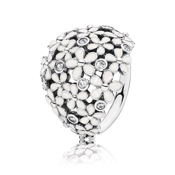 PANDORA Darling Daisy Bouquet with White Enamel Ring RETIRED LIMITED QUANTITIES!