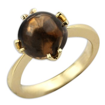 Smokey Quartz Mini Jelly Bean Ring-336860