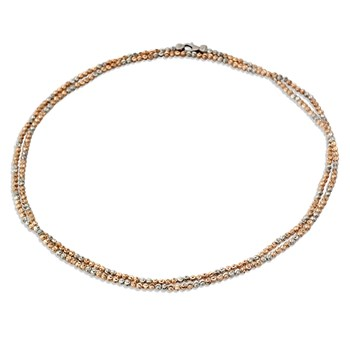 340706-Rose Gold & SS Necklace