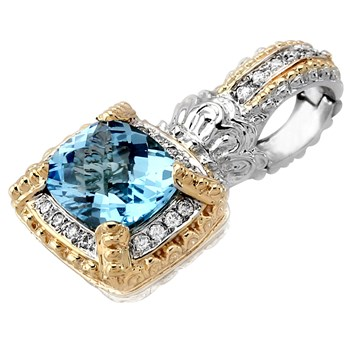 Blue Topaz & Diamond Enhancer-341284