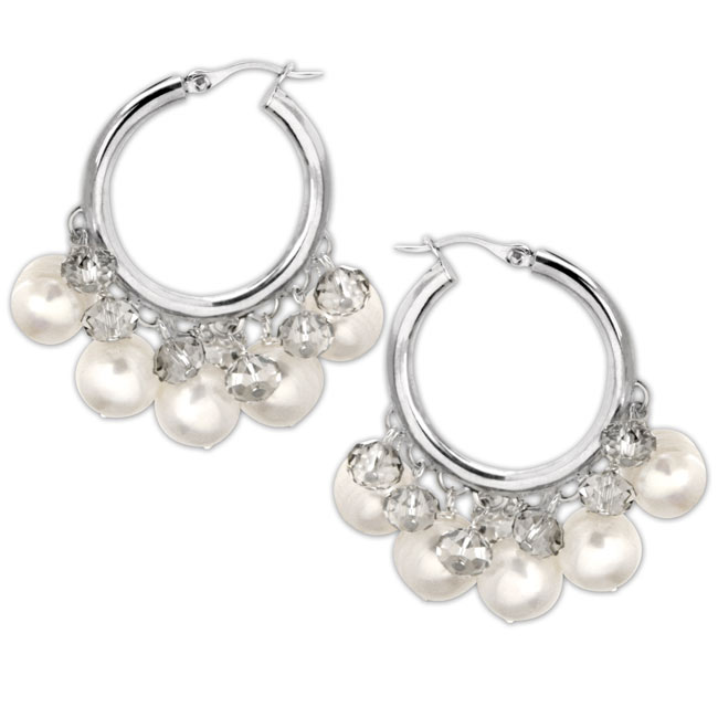 334279-Freshwater Pearl Hoop Earrings