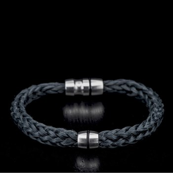 665-2-William Henry Black Kevlar Bracelet