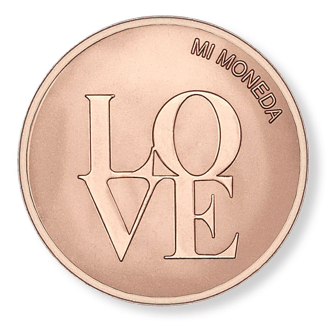 348279-Mi Moneda Love & Dreamcatcher Rose Gold-Plated Disc - ONLY 1 LEFT