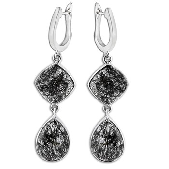 347409-Black Rutilated Quartz Earrings