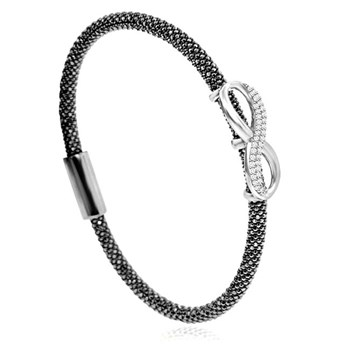 Infinity Black Bling Bangle-344912