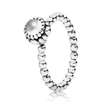 PANDORA Quartz April Birthday Bloom Stackable Ring