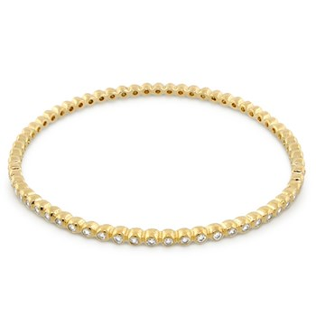 Yellow Gold 'Fun Bubbles' Bangle-346257