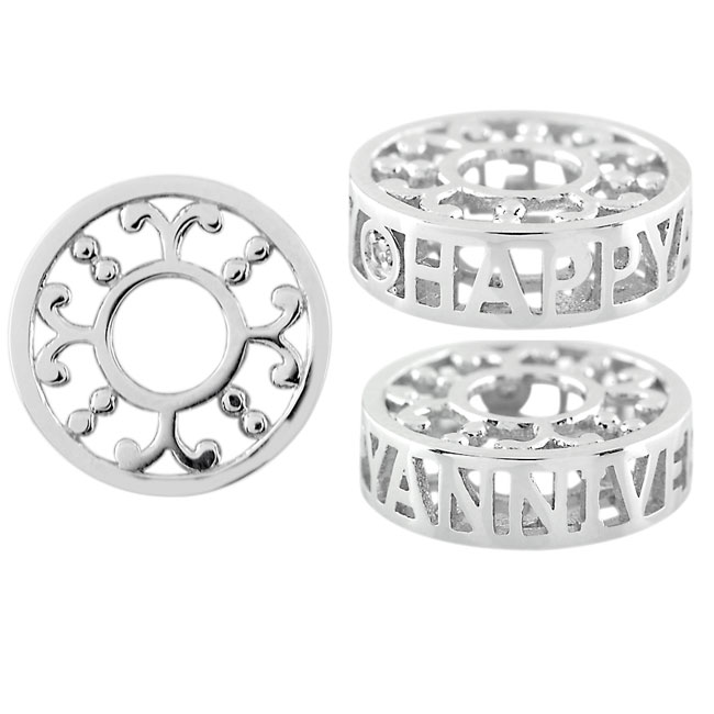 333771-Storywheels HAPPY ANNIVERSARY with Diamond Sterling Silver Wheel