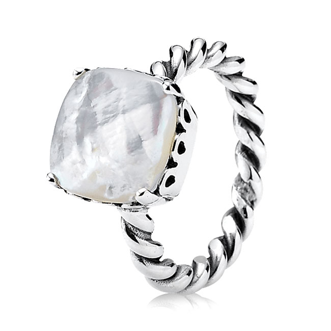 PANDORA Sincerity with Mother of Pearl Stackable Ring-190828MP