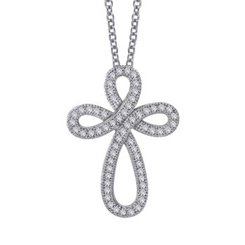 Curvy Cross Necklace-344799