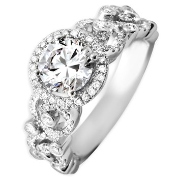Diamond Ring with Swirl Design-341809
