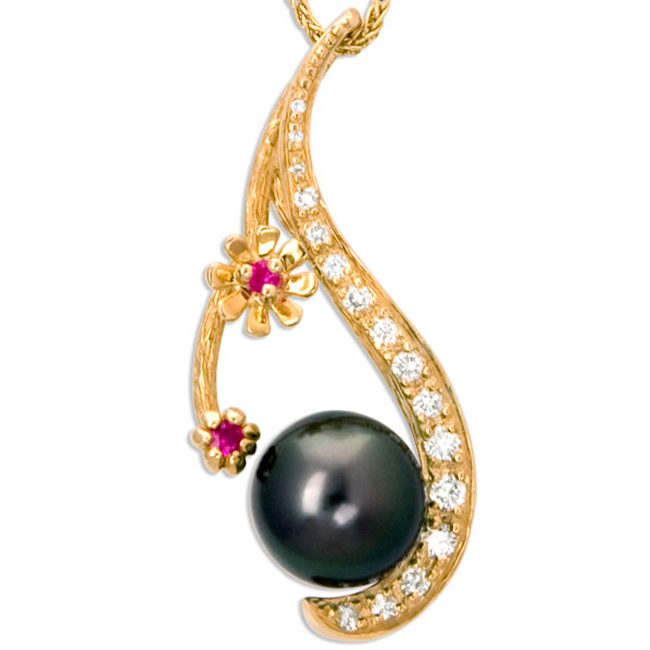 335794-Galatea Tahitian Pearl Diamond and Ruby Necklace