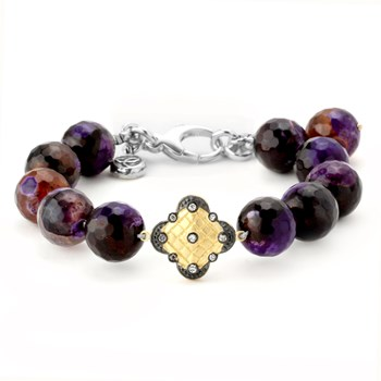 344485-Lollies Purple Agate Bracelet