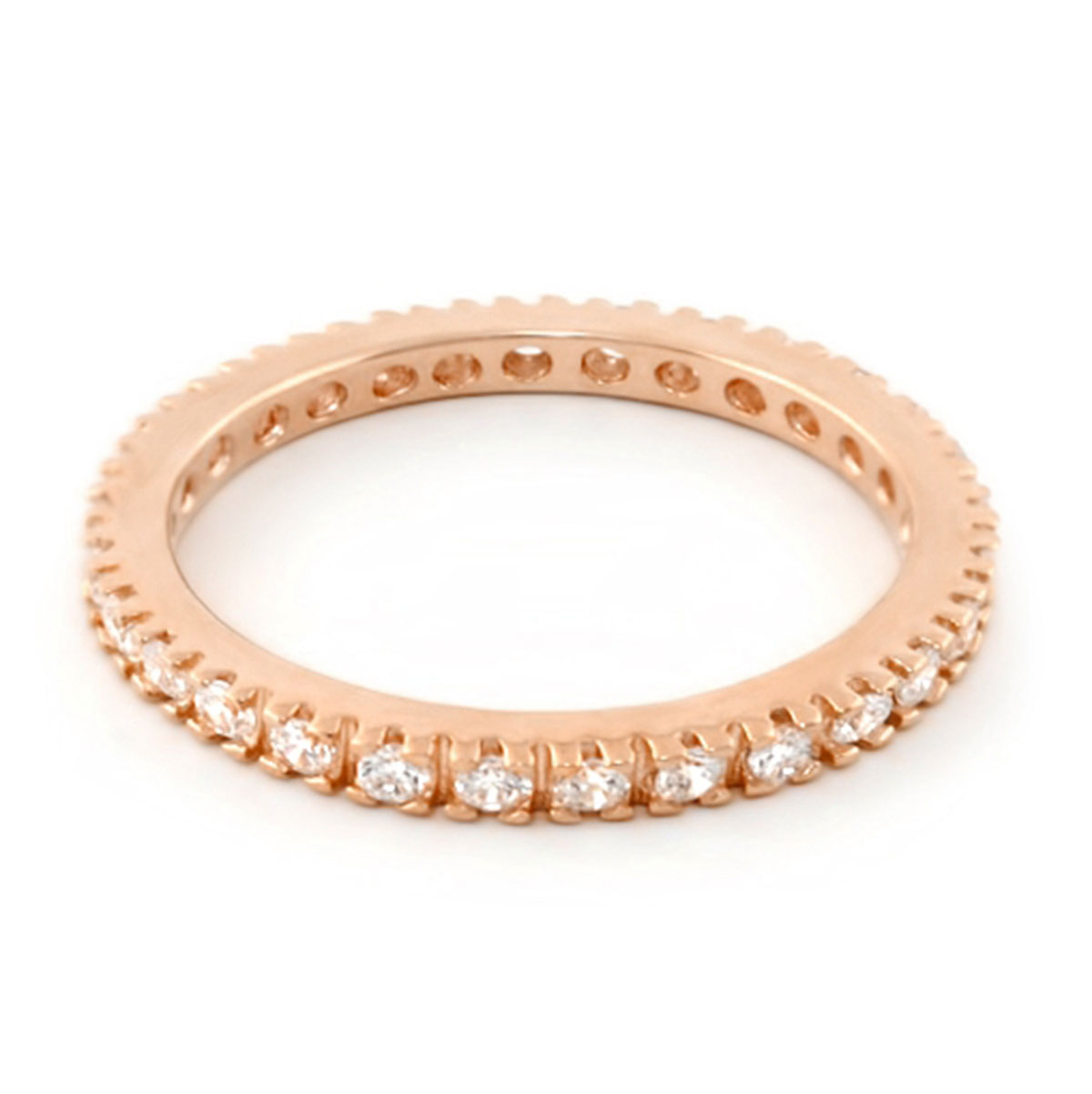 347591-Lauren G Adams ROSE GOLD Stackable 'Eternity' Band Ring ONLY 1 LEFT!