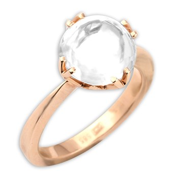 White Topaz Mini Jelly Bean Ring-339217