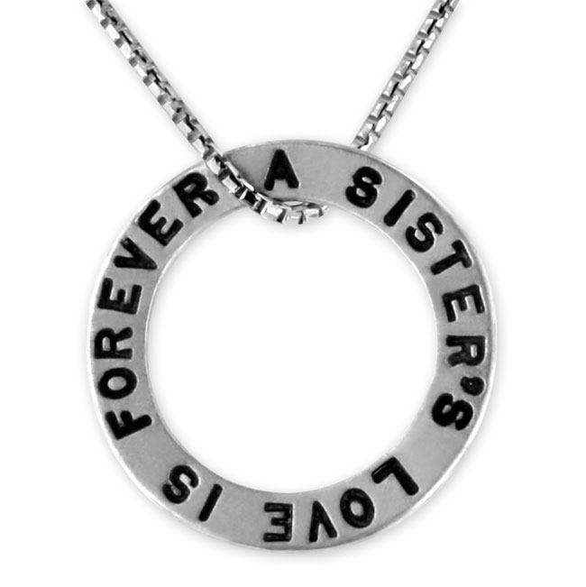 "339498-Heather Moore Jewelry ""A Sister's Love"" Open Circle Charm"