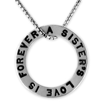 339498-A Sister's Love Open Circle Charm