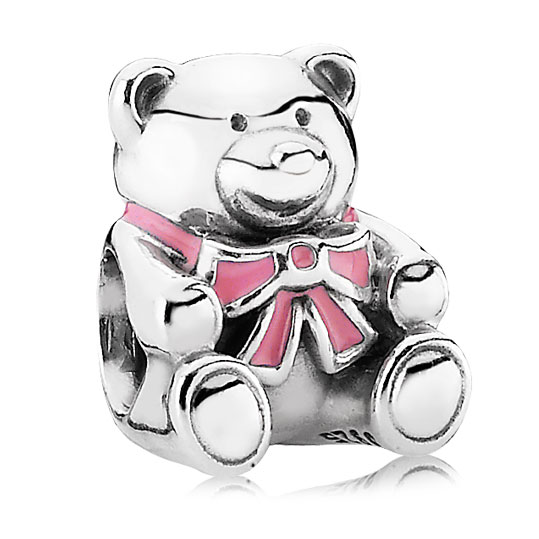 342899-PANDORA It's a Girl Bear with Pink Enamel Charm