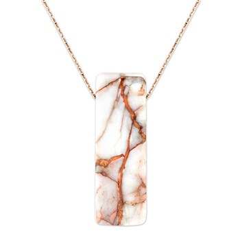 Copper in Quartz Rectangular Pendant-343379