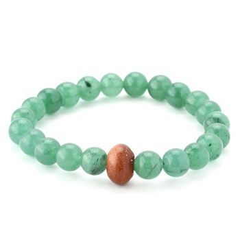 346330-Green Aventurine and Goldstone Bracelet