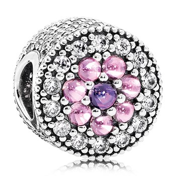 PANDORA Dazzling Floral with Multi-Colored CZ Charm