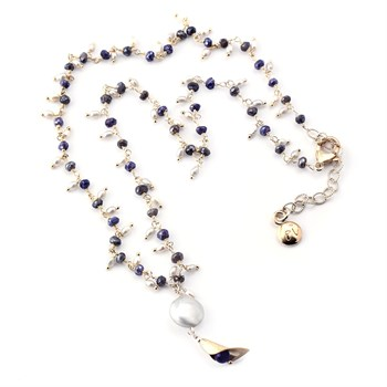 348492-Coin Pearl & Labradorite Necklace