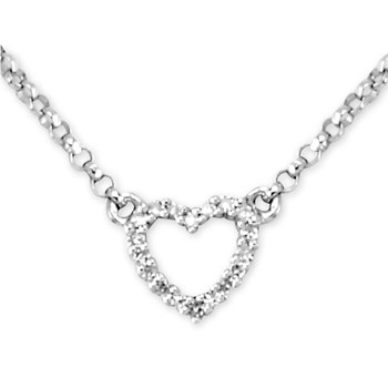 Diamond Heart Necklace-343332