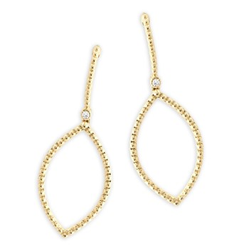 Gold Dangle Earrings-341320
