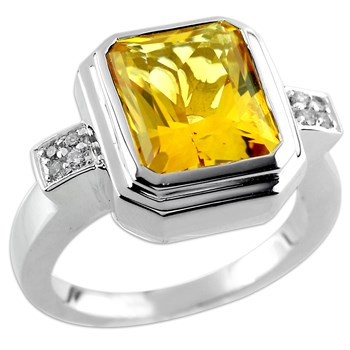 Citrine & Diamond Ring-332737