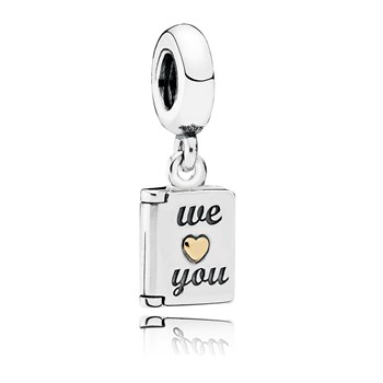 802-2953-PANDORA We Love You with 14K Dangle *PANDORA Shop in Shop Exclusive*