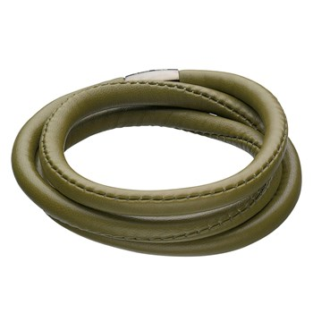 STORY by Kranz & Ziegler Triple Wrap Olive Green Lambskin Bracelet RETIRED LIMITED QUANTITIES!