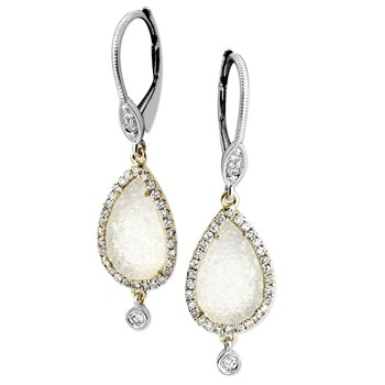 Drusy & Diamond Earrings-342259