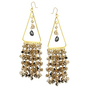 345919-Smokey Quartz and Pyrite Earrings