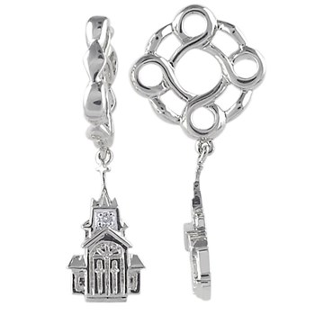 Storywheels Diamond Church Dangle Sterling Silver Wheel ONLY 5 AVAILABLE!-336909