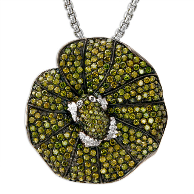 337858-Froggy on a Lilypad Bling Pendant ONLY 1 AVAILABLE