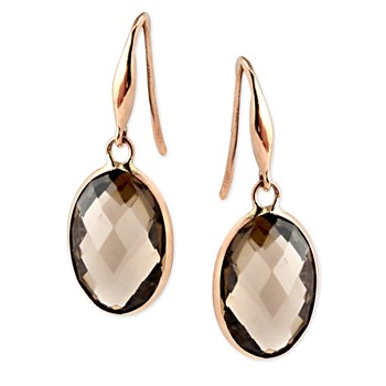 Smokey Quartz Earrings-347185