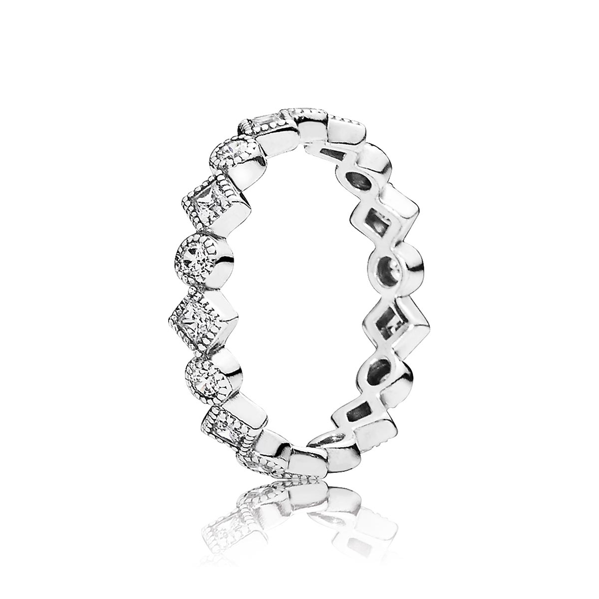 PANDORA Alluring Brilliant Princess with Clear CZ Ring