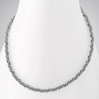 343290-SS Twist Necklace ONLY 4 LEFT!
