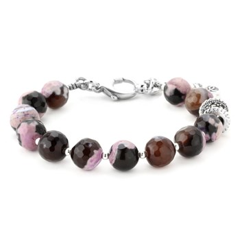 344509-Lollies Purple Agate Bracelet