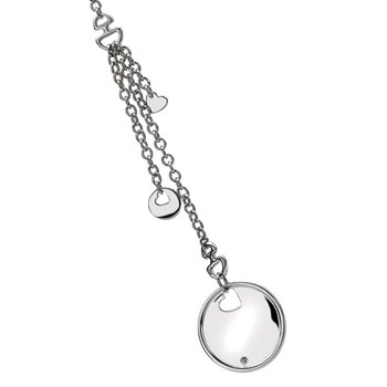 Hot Diamonds Love Letters Disc Lariat Pendant-334117