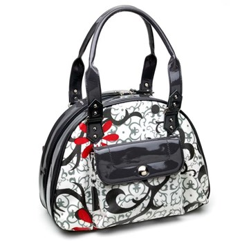 337015-Red, White & Black Jewelry Bag