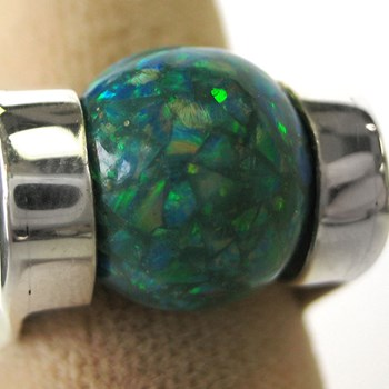 283021-283021-TEAL OPAL BALLl-ei-$105.00 ONLY 1 AVAILABLE!