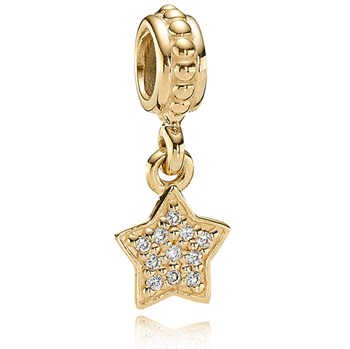 341724-PANDORA 14K Pavé Brilliant Star Dangle