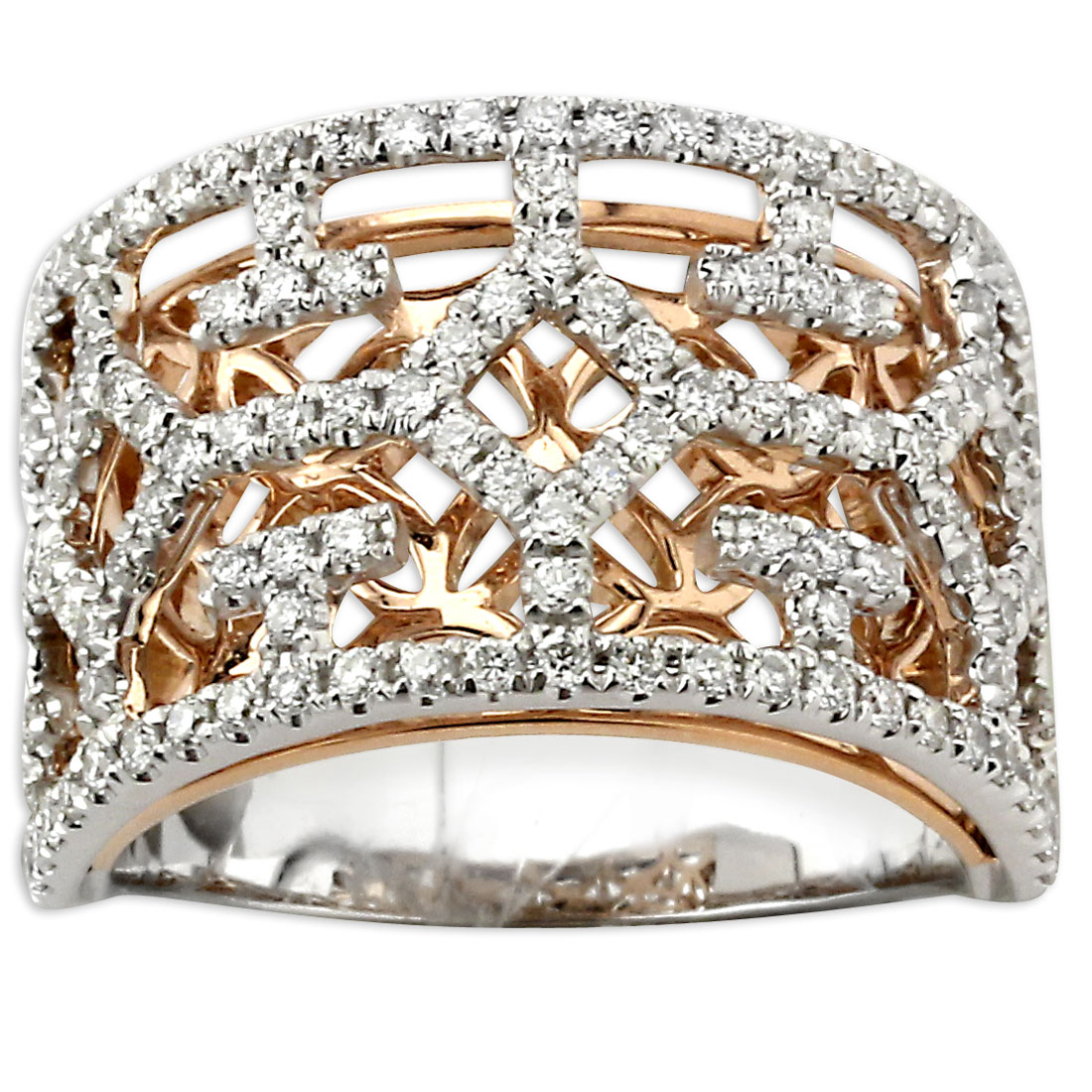 340846-Diamond Cut-out Ring